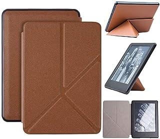 Capa Kindle 10ª geração com iluminação embutida – Auto Hibernação – Fecho Magnético – Origami - Marrom