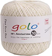 golo Crochet Thread for Size10 Milky White Crochet Yarn
