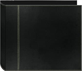 Clewiltess Black Photo Albums 12 x 12-Inch 3-Ring 2-Tone Cover Scrapbook Binder