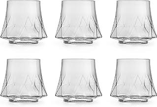 Libbey Dricksglas Divergence – 290 ml/29 cl – 6 stycken – diskmaskinssäker – unik design