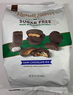 Russell Stover Sugar-Free (made with Stevia) Dark Chocolate Mix 15.5 oz