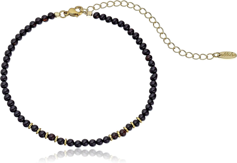 Ettika Still Surprise You Onyx and Gold Choker Necklace, 10.5