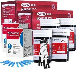 Medidor de glucosa en Sangre, Medidor de glucosa hogar automático Arterial Alta Instrumento de medición, con 50 Piezas de Papel de Prueba + 50 Piezas de Aguja (Size : D(100PCS Test Strip))