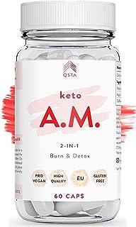 Keto Plus Original AM (45 DIAS) - Quemagrasas potente para adelgazar y rapido, Quema grasas & Detox, Aceite MCT C8 + Vinagre de Sidra de Manzana, Fat Burner Reductor, Kit Dieta, PERSONALIZADO +MEDICOS