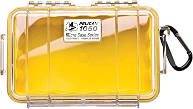Pelican 1050 Micro Case - for iPhone, GoPro, Camera, and more (Yellow/Clear)