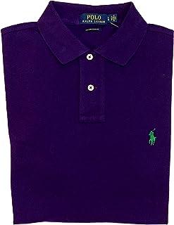 Polo RL Men's Custom Slim Fit Mesh Pony Shirt-Dark...