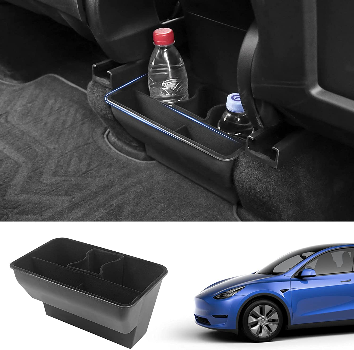 powoq High San Antonio Mall quality new Fit Tesla Model Y Storage Or Air Box Underseat Outlet Rear