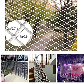HWJ Children's Safety Net Stairs Protection Net Indoor and Outdoor Railing Net White Nylon Rope Net Anti-cat Climbing Wall Decoration Net Plant Seine Rope Thickness 5mm / Grid 10cm