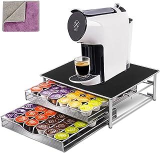 MASTERTOP Porte-Capsule à Café 72 PCs Dolce Gusto - Support de Dosettes à Double Couche, Tiroir de Rangement Antidérapant,...