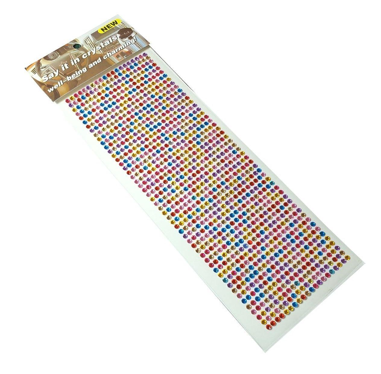 出口レンダー甘いラインダイアモンドのデコレーションステッカー 1000粒 (カラーミックス)