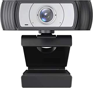 Stream Webcam with Microphone (PTZ920),1080P Conference Camera for Laptop PC Computer,110 Degree Wide Angle,USB External C...