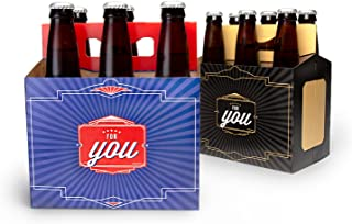 Big Betty Brews for You Beer Gift Box, Cardboard Beer Carriers or Greeting Cards, Set of 4, For You, Black and Blue