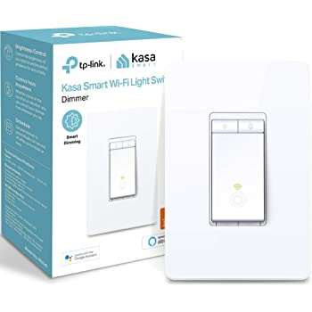 Kasa Smart (HS220) Dimmer Switch by TP-Link, Single Pole, Needs Neutral Wire, WiFi Light Switch for LED Lights, Works with Alexa and Google Assistant, UL Certified, 1-Pack