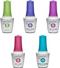 Gelish Soak Off Basix Acrylic Powder Nail Polish Dip Manicure Set Starter Kit