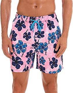 eb3405623b KISSMODA Mens Swim Trunks Quick Dry Beach Wear Shorts Swimwear Bathing Suits  Boardshorts