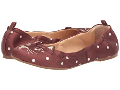 Charlotte Olympia Kitty Ballerina (Brown) Women