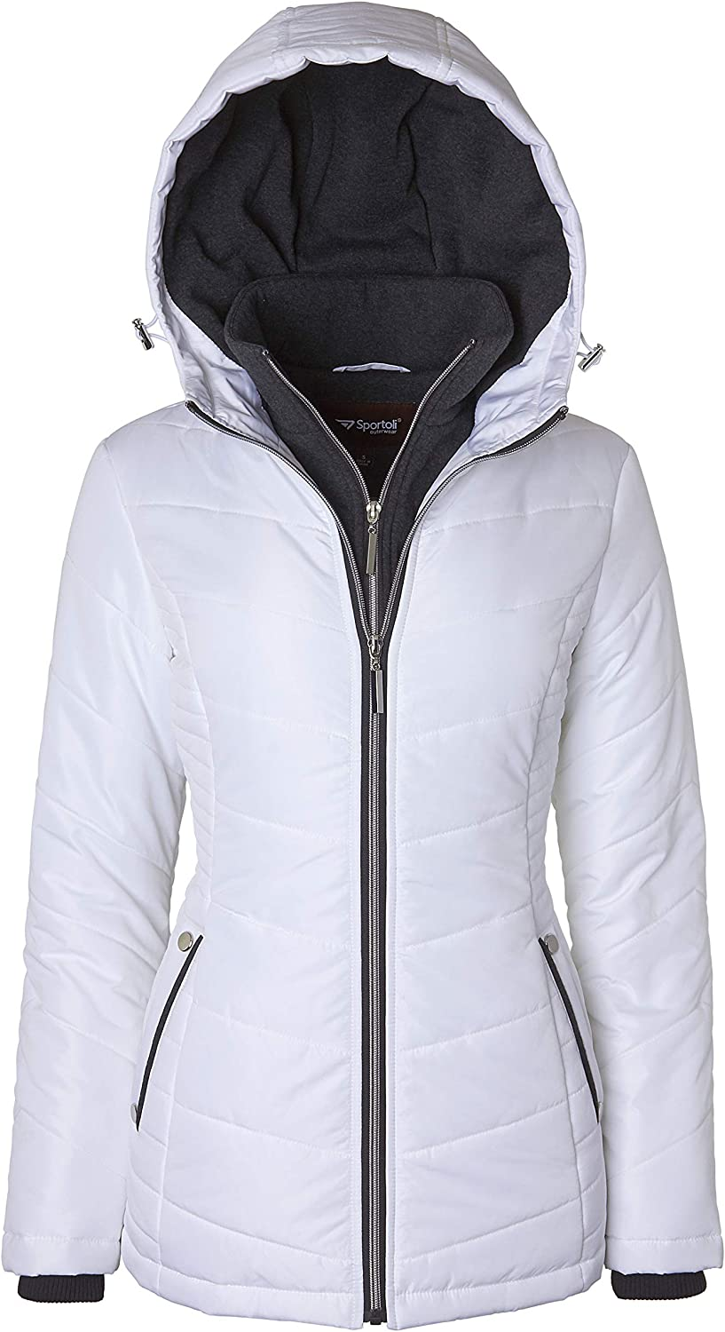 Safety and trust Women's Down Alternative Quilted Midlength Vestee Puffer Popular shop is the lowest price challenge Jacket