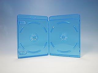 ブルーレイケース 2枚収納 100個 / クリアブルー/ロゴ有 (Blu-rayケース/BDケース)