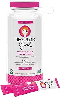 Regular Girl - Starter Kit, Low FODMAP Prebiotic Guar Fiber and Probiotic Support for Comfortable Digestion, 15 Packets & ...