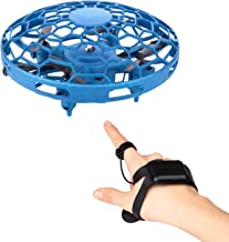 $25 » CANOPUS Hand Drone for Kids, Wrist Watch Remote Control, Blue UFO-Type Mini Drone with USB Cable, Drone with 360° Rotating...