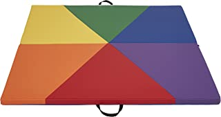 ECR4Kids SoftZone Geo Play Mat for Kids, 4 x 4 Feet, 1.5 Inches Thick Plush, Assorted