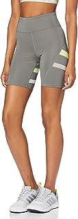 Marca Amazon - AURIQUE Shorts para Correr con Banda Lateral Mujer