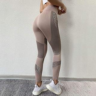 Beiziml Women Fitness Running Yoga Pants High Waist Push Up Seamless Leggings Stretchy Tight Gym Leggings Workout Sportswear