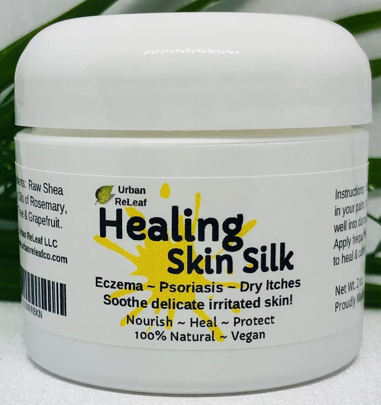 Urban ReLeaf HEALING SKIN SILK NEW before selling Dry Itch Eczema Psoriasis Heals 4 years warranty