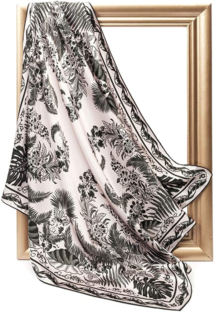 INAINI 100% Pure Mulberry Real Silk Scarf for Women 35