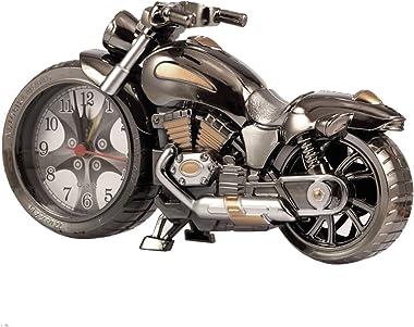 Gosear® Rétro Moto Style Élèves Réveil Table Bureau Horloge Cool Moto Modèle Home Office Shelf Décoration Anniversaire Nouvea