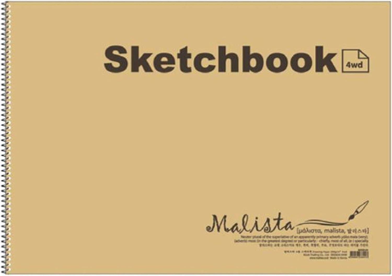 Malista Sketchbook half Drawing Paper Book- 540x387mm 14she Nippon regular agency m² 200g