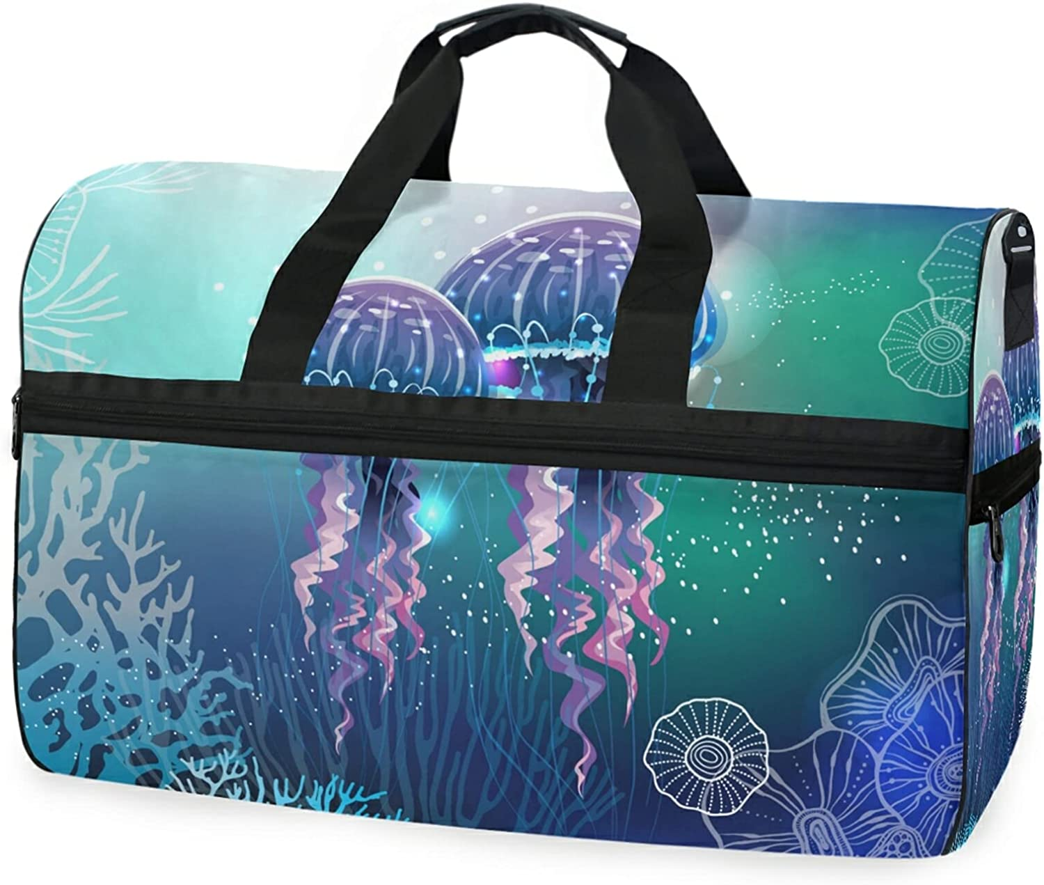 Jellyfish Fashion Travel Duffel Bag Luggage With Gym Co Sports Shoes Sale Special Price