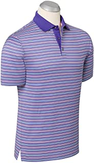 Bobby Jones Mens Lux Mercerized Cotton Stripe Golf Polo Shirt