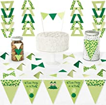 Big Dot of Happiness Twins Two Peas in a Pod - Diy Pennant Banner Decorations - Baby Shower or First Birthday Party Triangle Kit - 99 Pieces