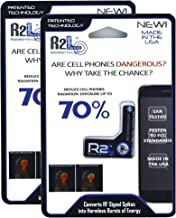 R2L Anti-Radiation Chip for Cell Phones - 2 Pack - EMF and EMR Protection - Reduces Radiation by 70%