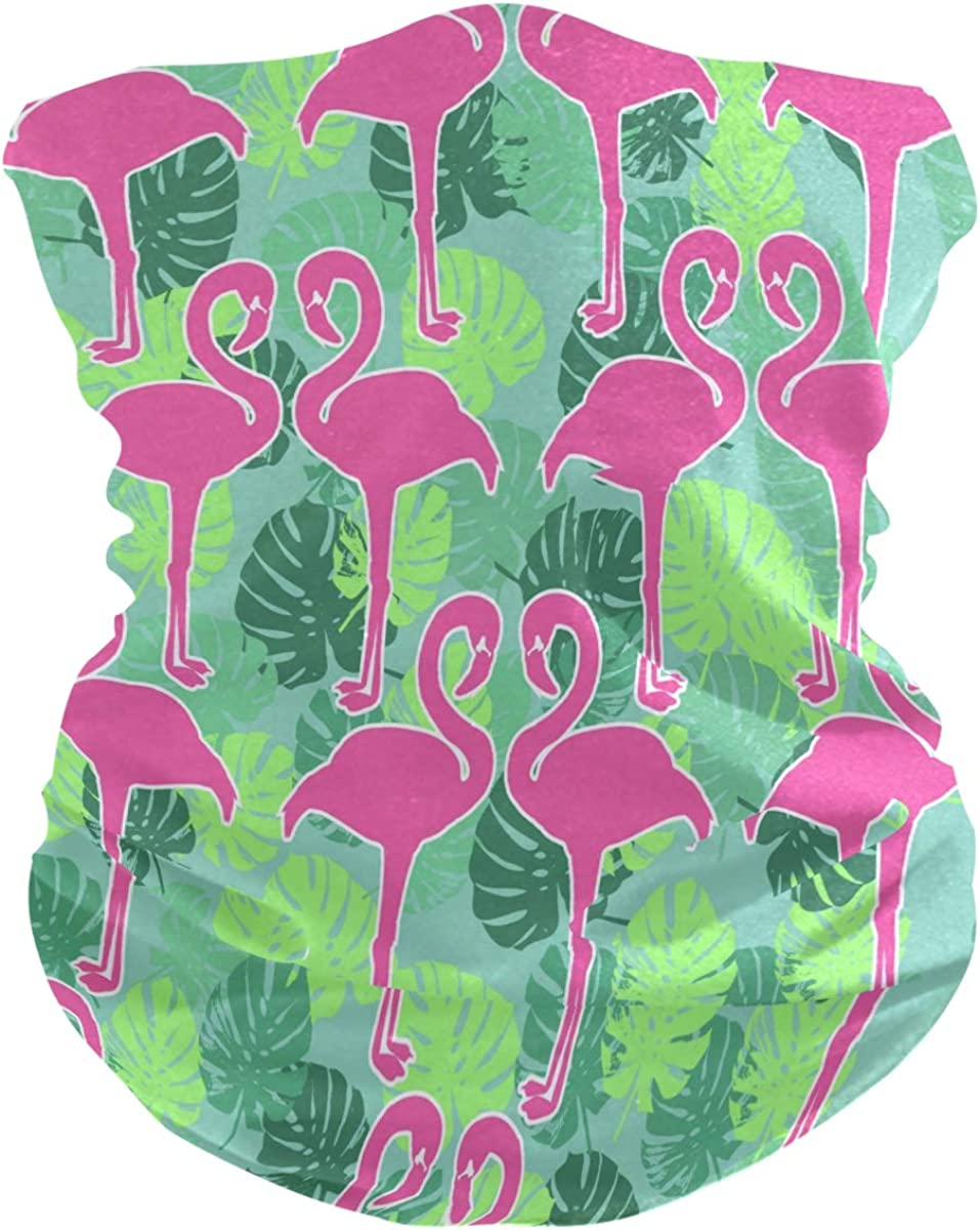 Bandana Face Scarf Neck Gaiter Flamingo Sketch Headwear Headband for Cycling Fishing Hiking Camping