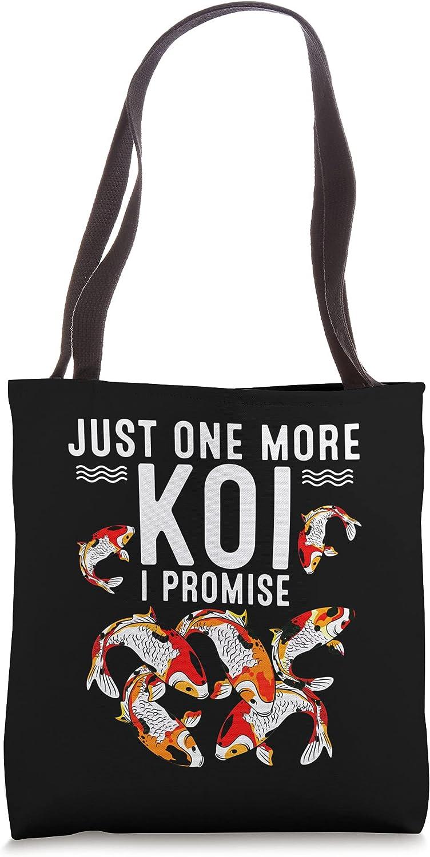 Funny One More Koi Choice High quality Gift For Men Fish Tote Ba Farmer Animal Women