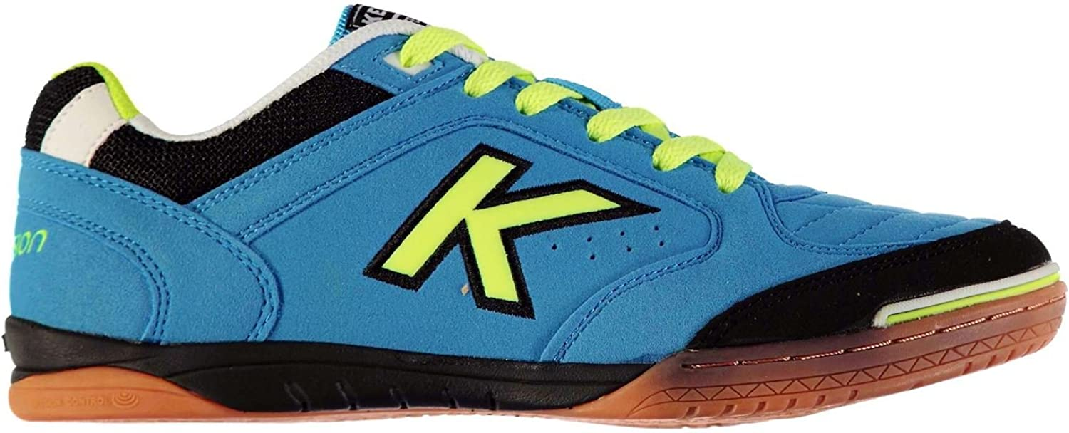 KELME Mens Precision Indoor Court Trainers Lace Up Football Sports shoes Turquoise Lime UK 7 (41)