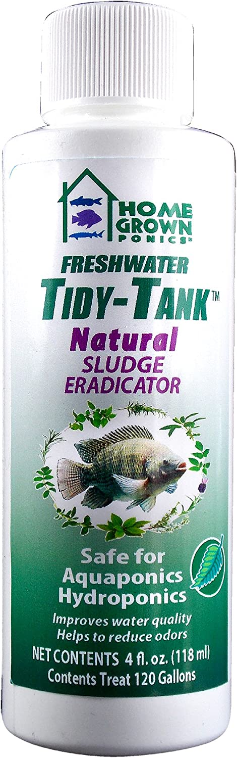 HOME GROWN PONICS  96038 Tidy Tank Natural Sludge Eradicator, 4Ounce