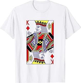 King Of Diamonds Royal Flush Costume Halloween Poker Casino T-Shirt
