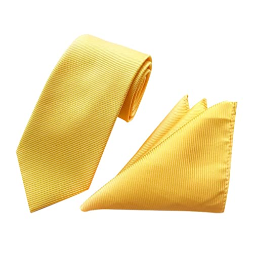 TANGDA Mens Casual Solid Silk Woven Party Wedding Neck Tie 6 Colors Available
