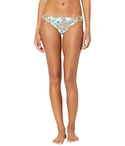 Tory Burch Swimwear Printed Ring Hipster (Blue Wallpaper Floral) Women