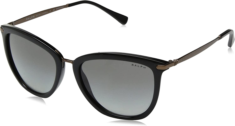 Ralph by Ralph Lauren Women's 0ra5245 Cateye Sunglasses, Black, 55.0 mm
