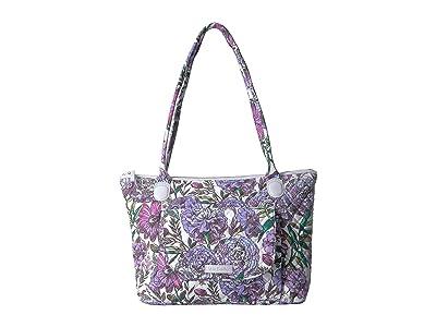 Vera Bradley Carson East/West Tote (Lavender Meadow) Tote Handbags