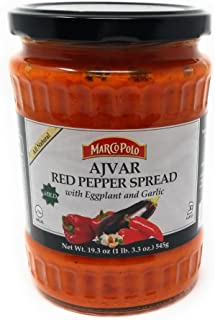Marco Polo Mild Ajvar Red Pepper Spread, 19.3 oz