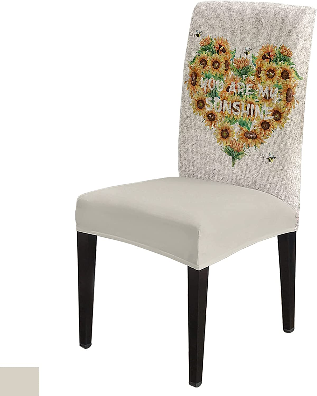 Vintage Sunflower Chair Slip Max 73% OFF Inexpensive Cover Set Covers 8 of Dining Seat