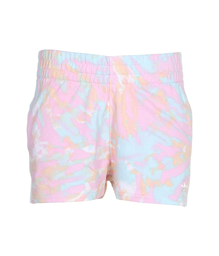 adidas Originals  3 Stripe Shorts (Multicolor/White/True Pink/Vapour Blue) Womens Shorts