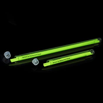 """ShopStraw SS-510 Combo Pack Aerosol Can Replacement Straws, 5""""/10"""", Neon Green, 20-Count"""