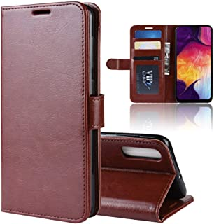 LAGUI Case Compatible for Samsung Galaxy A50, Mature and stable Wallet Cover with Card Slots, Magnetic Closure and Flip Stand. brown