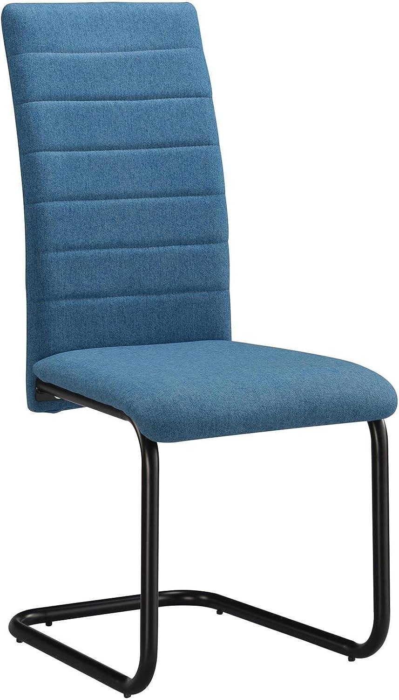 CARO-Mbel Esszimmerstuhl Panama 4er Set Küchenstuhl Polsterstuhl Schwingstuhl Freischwinger in blau